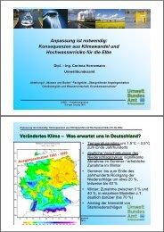 Anpassung ist notwendig: Konsequenzen aus Klimawandel ... - LABEL