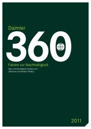 Daimler 2011 - Daimler Nachhaltigkeitsbericht 2011.