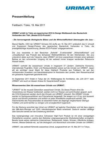 Pressemitteilung - Urimat Schweiz AG