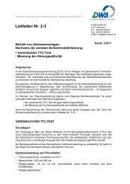 Leitfaden Nr. 2-3 - DWA-Landesverbandes Bayern