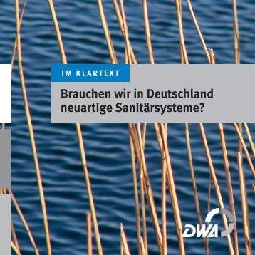 Brauchen wir in Deutschland neuartige Sanitärsysteme? - SuSanA