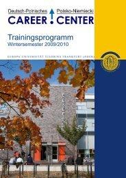 Trainingsprogramm - European University Viadrina Frankfurt (Oder)