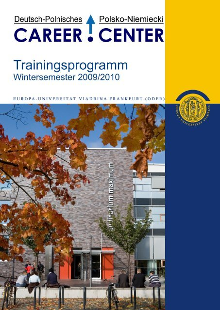 Trainingsprogramm - European University Viadrina Frankfurt (Oder)