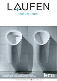 Innovation und Design: wassersparende und wasserlose ... - Laufen