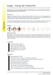 Indigo - König der Farbstoffe - Fachreferent Chemie