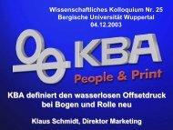 KBA Cortina - Bergische Universität Wuppertal