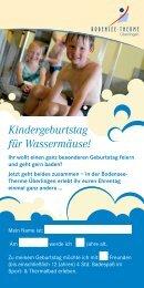 Kindergeburtstag für Wassermäuse! - Bodensee-Therme Überlingen