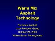 Warm Mix Asphalt Technology - David Newcomb - Superpave