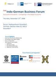 3rd Indo-German Business Forum - Pratham eV