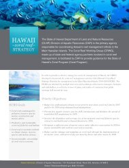 Priority Objectives HCRS Goals - Hawaii Coral Reef Strategies