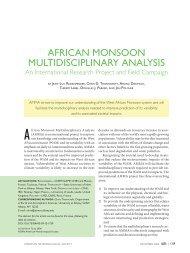 african monsoon multidisciplinary analysis - AMS Journals Online ...