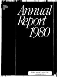 National Endowment for the Arts Annual Report 1980
