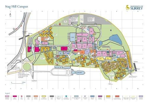 University Of Surrey Map University of Surrey Campus Map