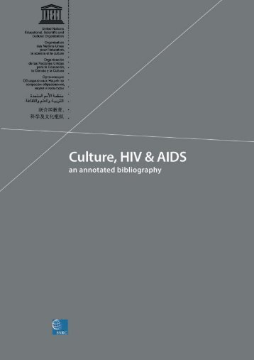 Culture, HIV and AIDS: an annotated bibliography - unesdoc - Unesco