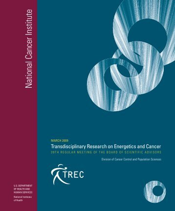 Transdisciplinary Research on Energetics and Cancer (TREC ...