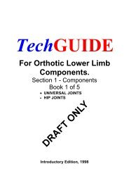 GUIDE For Orthotic Lower Limb Components. - Monash University