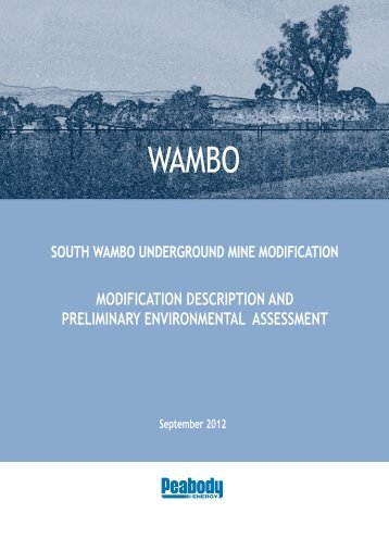South Wambo Underground Mine Modification - Peabody Energy