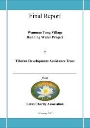 Wanmao Tang Village Running Water Project to Tibetan ...