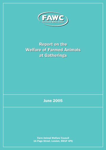 Welfare of Farmed Animals at Gatherings - Farm Animal Welfare ...