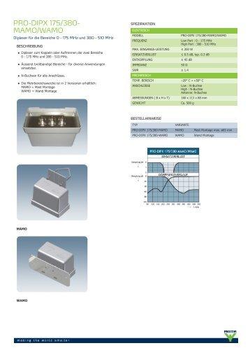 Procom - PRO-DIPX 175/380-MAMO/WAMO - BOS Antennen