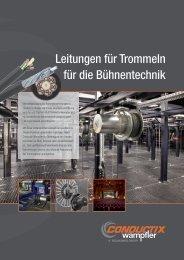 Leitungen für Trommeln für die Bühnentechnik - Conductix-Wampfler