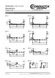 Questionnaire for Motor-Driven Reels - Conductix-Wampfler
