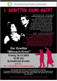 """Info-Zettel """"Erwitter Krimi-Nacht"""", Seite 1/3 - Stadt Erwitte"""