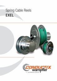 Spring Cable Reels EXEL - Conductix-Wampfler