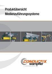Produktübersicht Medienzuführungssysteme - Conductix-Wampfler