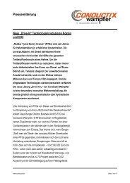Pressemitteilung - Conductix-Wampfler