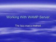 Working With WAMP Server - Imatgedart
