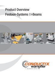 Product Overview Festoon-Systems | I-Beams - Conductix-Wampfler