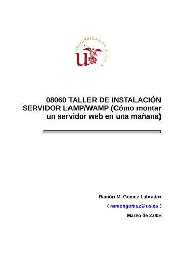 08060 Taller de Instalación Servidor LAMP/WAMP (cómo