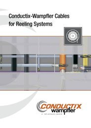Conductix-Wampfler Cables for Reeling Systems