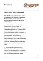 Conductix-Wampfler gewinnt Technologie-Award