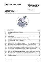 Cable trolleys Program 200 ATEX - Conductix-Wampfler