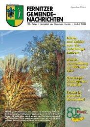 Fernitzer Gemeinde Nachrichten HERBST 2008 (2,53 MB