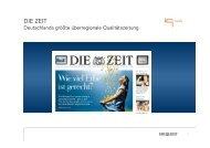 DIE ZEIT Basispräsentation - iq media marketing