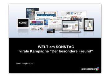 """WELT am SONNTAG virale Kampagne """"Der besondere Freund"""""""