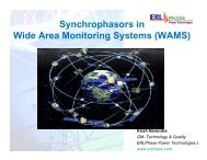 Synchrophasors in Wide Area Monitoring Systems (WAMS)