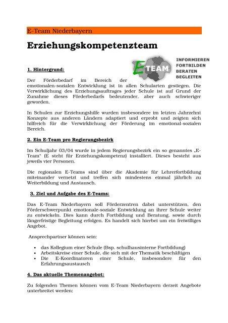 Erziehungskompetenzteam - Die Regierung von Niederbayern