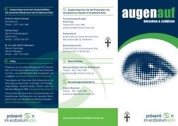 Flyer_Praevention_Koeln.qxd:Layout 1 - Erzbistum Köln