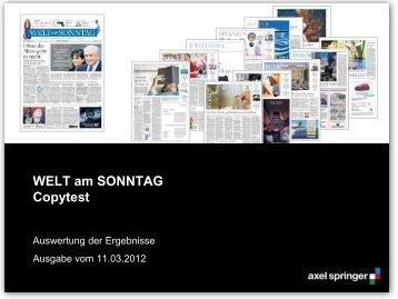 Copytest 2012 - Axel Springer MediaPilot