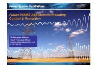 Future WAMS Applications including Control & Protection