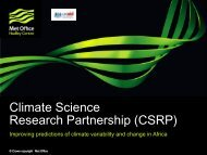 Climate Science Research Partnership (CSRP) - Met Office