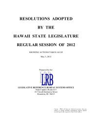 List of Resolutions Adopted - Legislative Reference Bureau