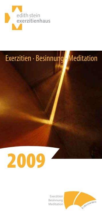 Exerzitien · Besinnung · Meditation - Erzbistum Köln
