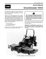 Troubleshooting Guide Groundsmaster 345/325-D - Toro
