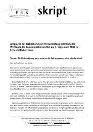Ansprache des Erzbischofs beim Presseempfang ... - Erzbistum Köln