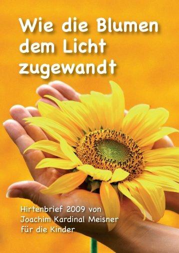 """""""Wie die Blumen dem Licht zugewandt"""" - Der ... - Erzbistum Köln"""